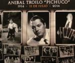 Un collage de fotos, homenajeando a Aníbal Troilo