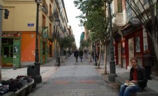 Calle barrio de las letras