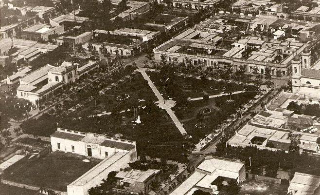 Año 1921 viejo edificio municipal sin la torre