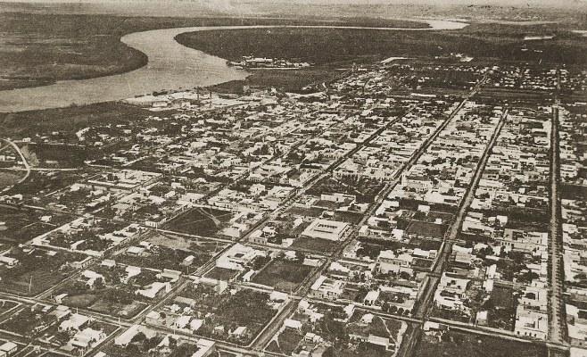 VISTA AEREA DE ZARATE. 1921
