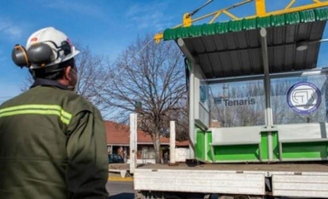 Instalan en Campana la segunda parada de colectivos inteligente